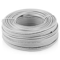 Кабель UTP 4 Pairs cat 5E 100m solid (AWG24) CCA alloy grey 100м