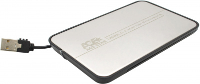 "Внешний корпус AgeStar SUB2A8 (Stainless steel cover) usb2.0 to 2,5""hdd SATA"