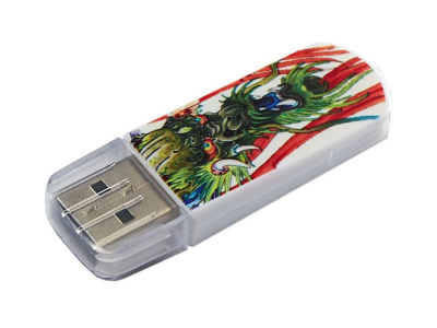 USB Flash RAM 32 GB USB2.0 [Verbatim Mini Tattoo Dragon 49899  белый/рисунок - 650 руб.